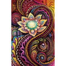YIKEE Diamond Painting Abstract Flower Embroidery Sale Art Mosaic Crystal Handicraft Wall  k987