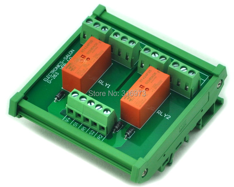 Passive Bistable//Latching 2 DPDT 8 Amp Power Relay Module RT424F05 5V Version