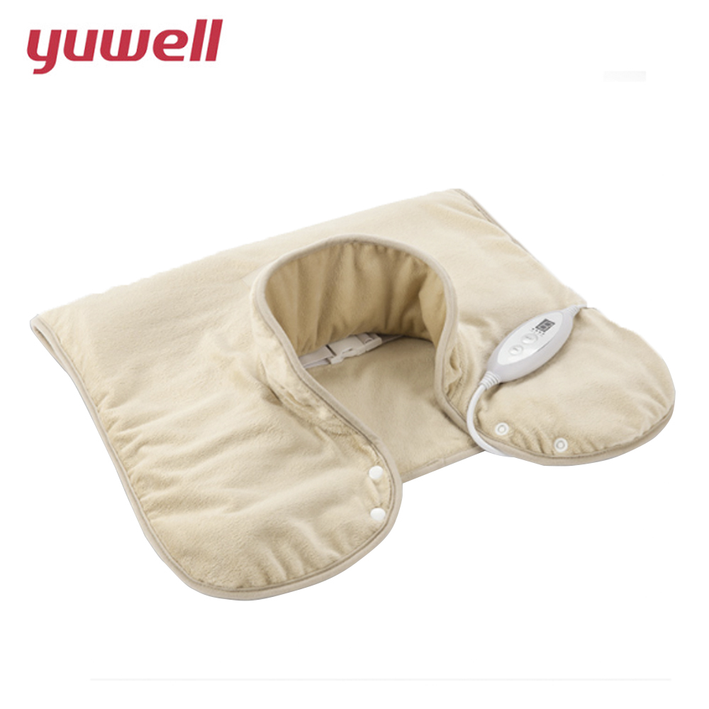 yuwell Neck Massager Electric Infrared Heating Massage Device Back Body Shiatsu Massage Equipment Physiotherapy Equipment 6090 free shipping massager body massage cushion back neck care acupressure shiatsu massager relieve pain physiotherapy equipment