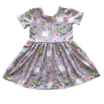 9aa785ff5 2019 nuevo diseño día de Pascua niñas vestido de boutique niños conejo ropa
