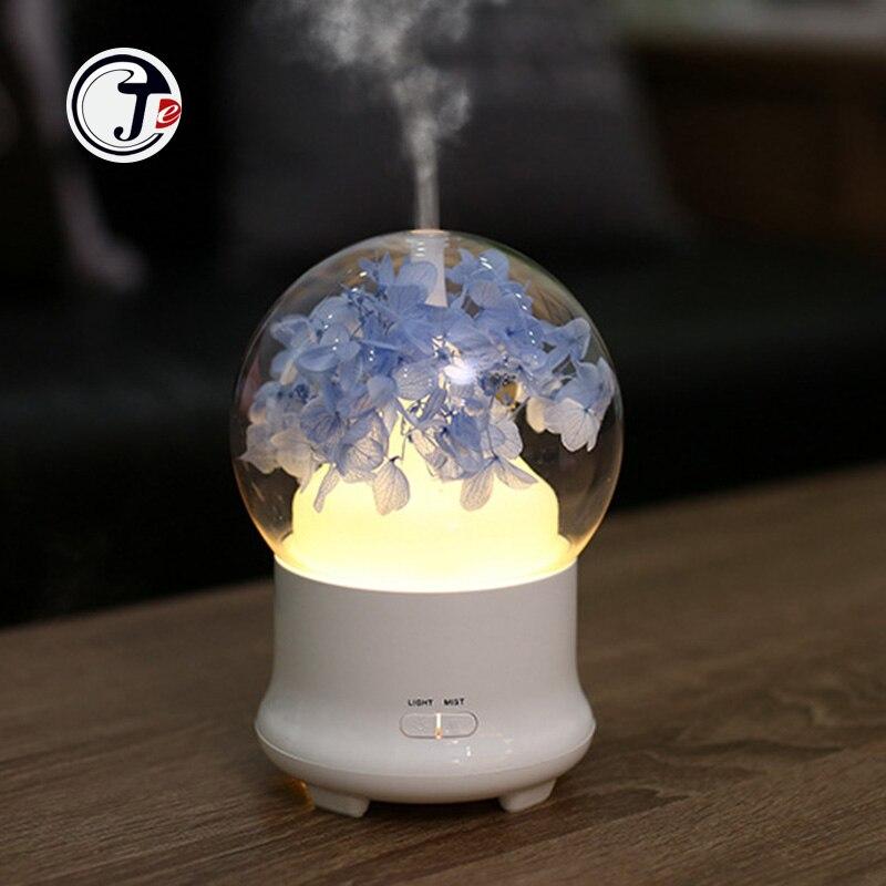 Сухоцветов распылитель ароматческих эфирных масел, увлажнители воздуха ультразвуковой увлажнитель для ароматерапии, 7 цветов светодиодный ночной Светильник для домашнего офиса