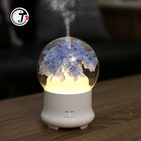 Immortal Flower Aroma Diffuser Essential Oil Air Humidifiers Ultrasonic Aromatherapy 7 Color LED Night light for Office Home