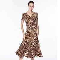 ballroom rumba dresses modern dance quickstep ballroom dress woman tango costume viennese waltz dress foxtrot dress leopard