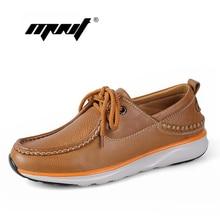 Handmade men shoes Soft full genuine leather men flats shoes Plus size outdoor men shoes Top quality classic autumn shoes