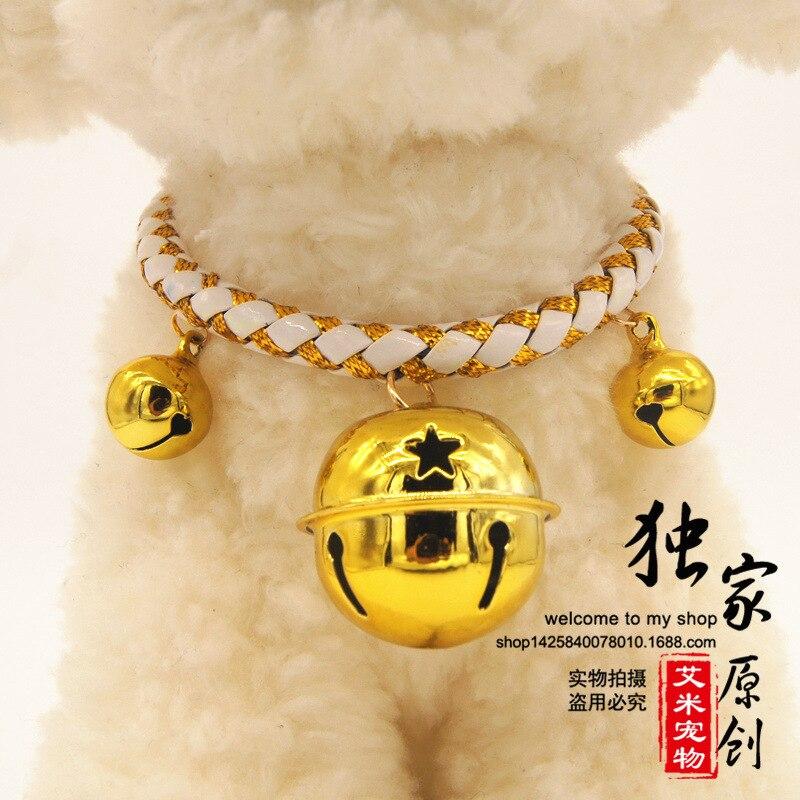 犬リング襟で名前カード新しいラッキーベルペット襟ネックレス