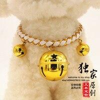Pies pierścień kołnierz z nazwa karty nowy szczęście dzwon Zwierzę Kołnierz Naszyjnik akcesoria z anty stracił marki dropship