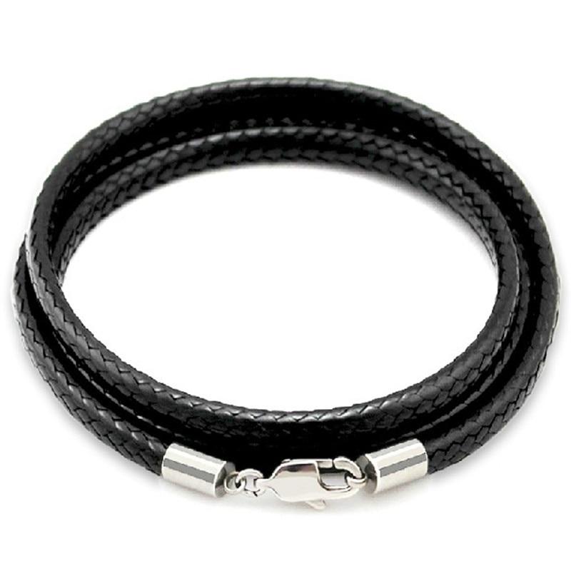 V06 Edelstahl Karabiner Verschluss Leder Armband Halskette Schmuck Collier Clasp