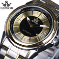 2016 Top Luxury Brand SEWOR Men Automatic Mechanical Watch Full Steel Mens Watches Sports Military Wrist Watches Waterproof