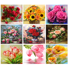 embroidery crystals,rhinestone painting,embroidery diamond,5d diamond mosaic,diamond painting flowers