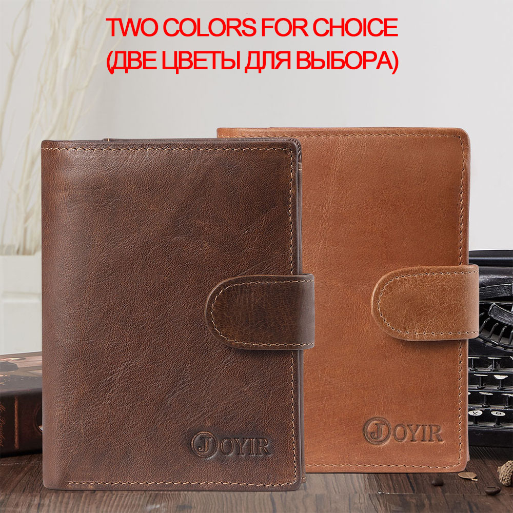 JOYIR Famous Men Genuine Leather Wallet Male Coin Purse Men Wallets RFID Card Holder Male Wallet Small Perse Carteira MasculinaJOYIR Famous Men Genuine Leather Wallet Male Coin Purse Men Wallets RFID Card Holder Male Wallet Small Perse Carteira Masculina