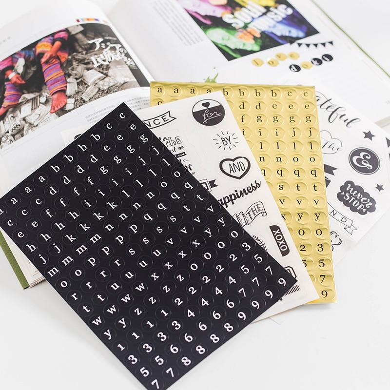 Dokibook Black Series Handmade Stickers Decorative Notebook Planner Accessories Diy Creative Stationery School Supplies 8pcs