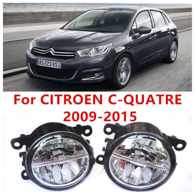 ФОТО For CITROEN C-QUATRE  2009-2015 Fog Lamps LED Car Styling 10W Yellow White 2016 new lights