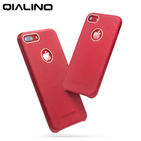 QIALINO Ultrathin Red Genuine Leather Case for iPhone7 Back Phone Case For Apple iPhone7 7plus 7p 4.7/5.5inch+Screen Protector