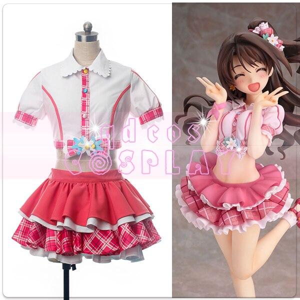 Anime The IDOLM STER Cinderella Girls Shimamura Uzuki Sexy Lovely Uniform Cosplay Costume Dailydress Full Set