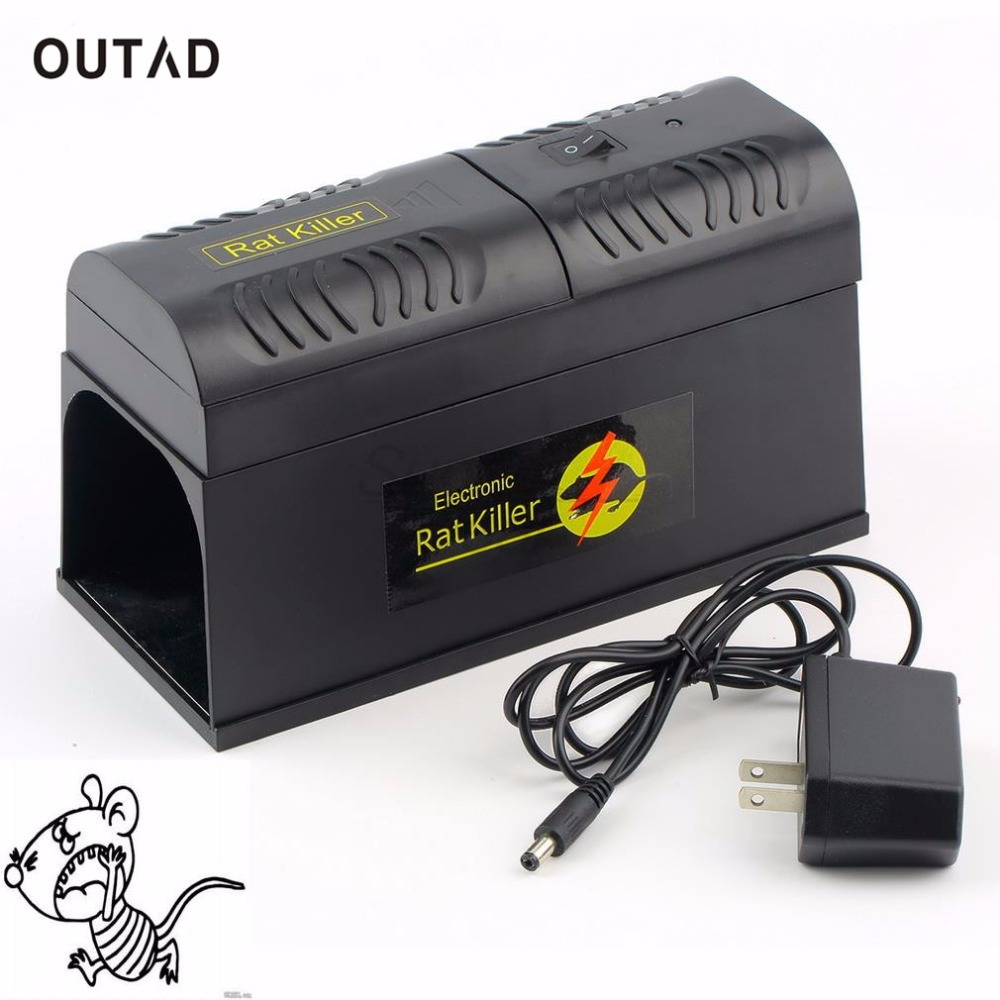 OUTAD Professional Electrocute Electronic Rat Trap Mice Mouse Rodent Killer Electric Shock EU Plug Adapter High Voltage