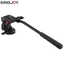 KINGJOY הרשמי KH 6750 פנורמי חצובה ראש הידראולי נוזל וידאו ראש עבור חצובה וחדרגל מצלמה מחזיק מעמד SLR DSLR