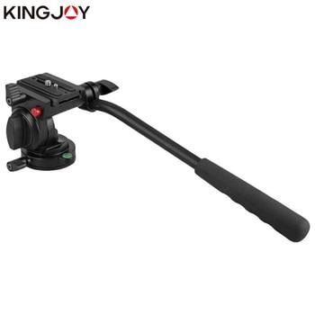 цена на KINGJOY Official KH-6750 Panoramic Tripod Head Hydraulic Fluid Video Head For Tripod And Monopod Camera Holder Stand SLR DSLR