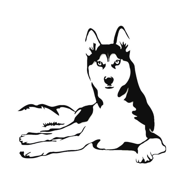 27 925 6cm Reflective Car Sticker Animal Dog Husky Funny Car
