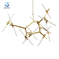 Type Led Light 6 8 10 Head Tree Branches Led Pendant Lamp Art Lights Alloy Fashion