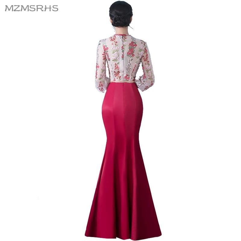 MZMSRHS Elegante 3/4 Ärmel Abendkleid Candy Farbe Spitze Kleider - Kleider für besondere Anlässe - Foto 2