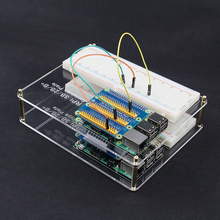 Big sale 2 Pcs Raspberry Pi 3 Model B Mounting Plate Prototype Acrylic Board Experiment Plate + MB-102 point Breadboard +65pcs Jump Cable