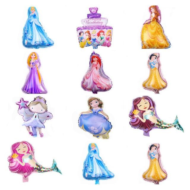 New 1pcs mini cartoon princess baby cake aluminum balloons birthday party balloons wholesale children's toys