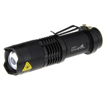 UltraFire sk68 mini LED Flahlight 380lm 3-Mode White Light Zoomable Flashlight pocket Torch LED Lamp Lantern (1* AA/ 14500) цена