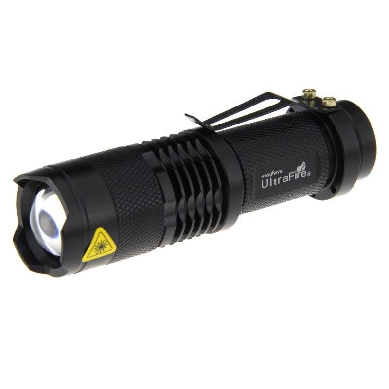 ultrafire linterna led mini LED Flahlight 3-Mode White Light Zoomable Flashlight pocket Torch LED Lamp Lantern LED antorcha ultrafire ab t60 3 mode 910 lumen white led flashlight black 1 x 16340