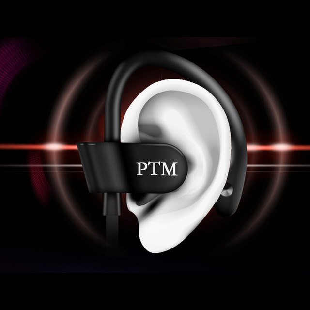 PTM S27 Earphone Sport Running Anti-Drop Headset Ear Hook Stereo Earbuds with Mic Headphone for iPhone 5 5S 6 6S Plus Xiaomi