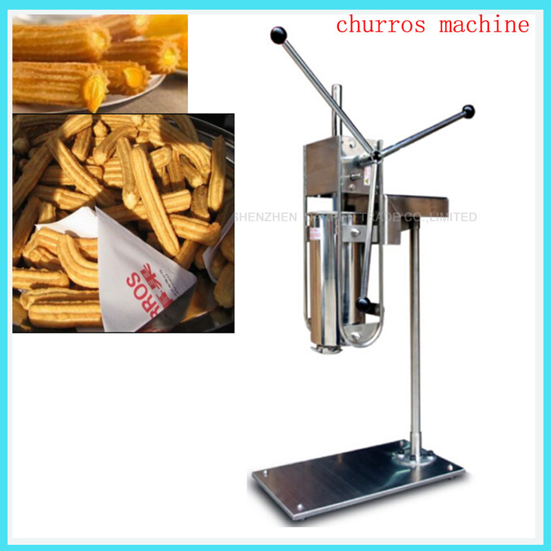 CH-5LB churros machine manual churro maker Fried dough sticks 5L churros machine maker commercial stainless steel churro machine 25l electric fryer manual spanish churros maker 4 nozzles