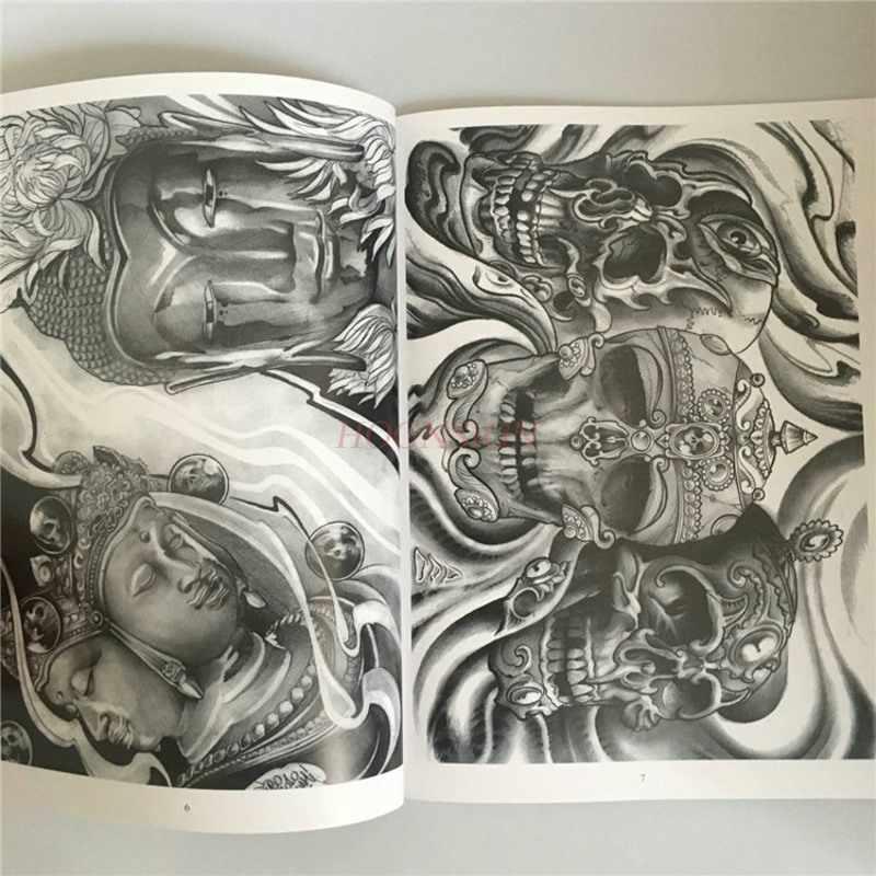 Tattoo Manuscript 2018 New Traditional Book Tattoos Atlas Geisha Ghost Warrior Prajna Jellyfish Phoenix Faucet Flower Tatoo