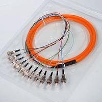 5pcs /Lot FC 12 cores Simplex mode fanout fiber pigtail FC Connector multimode 1.5M Bundle fiber optic Pigtail