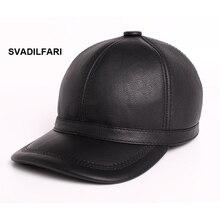 SvadiIfari marca 100% cuero genuino de la alta calidad gorras de béisbol  zurriago verdadero sombrero hombres mujeres moda 2018 n. 07db37f909a