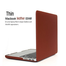 Laptop case ZVE retro leather Cover Shell For Apple Macbook Air 11 Pro 13 12 15