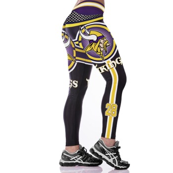 Unisex Football Team Vikings 28 Print Tight Pants Workout Gym Training Running Yoga Sport Fitness Exercise Leggings Dropshipping