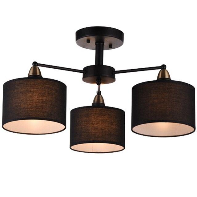 3 Lichter E27 Amerikanischen Landhausstil Vintage Tuch Kunst Pendelleuchte  Cafe Dekoration Lampe, Wohnzimmer Lampe