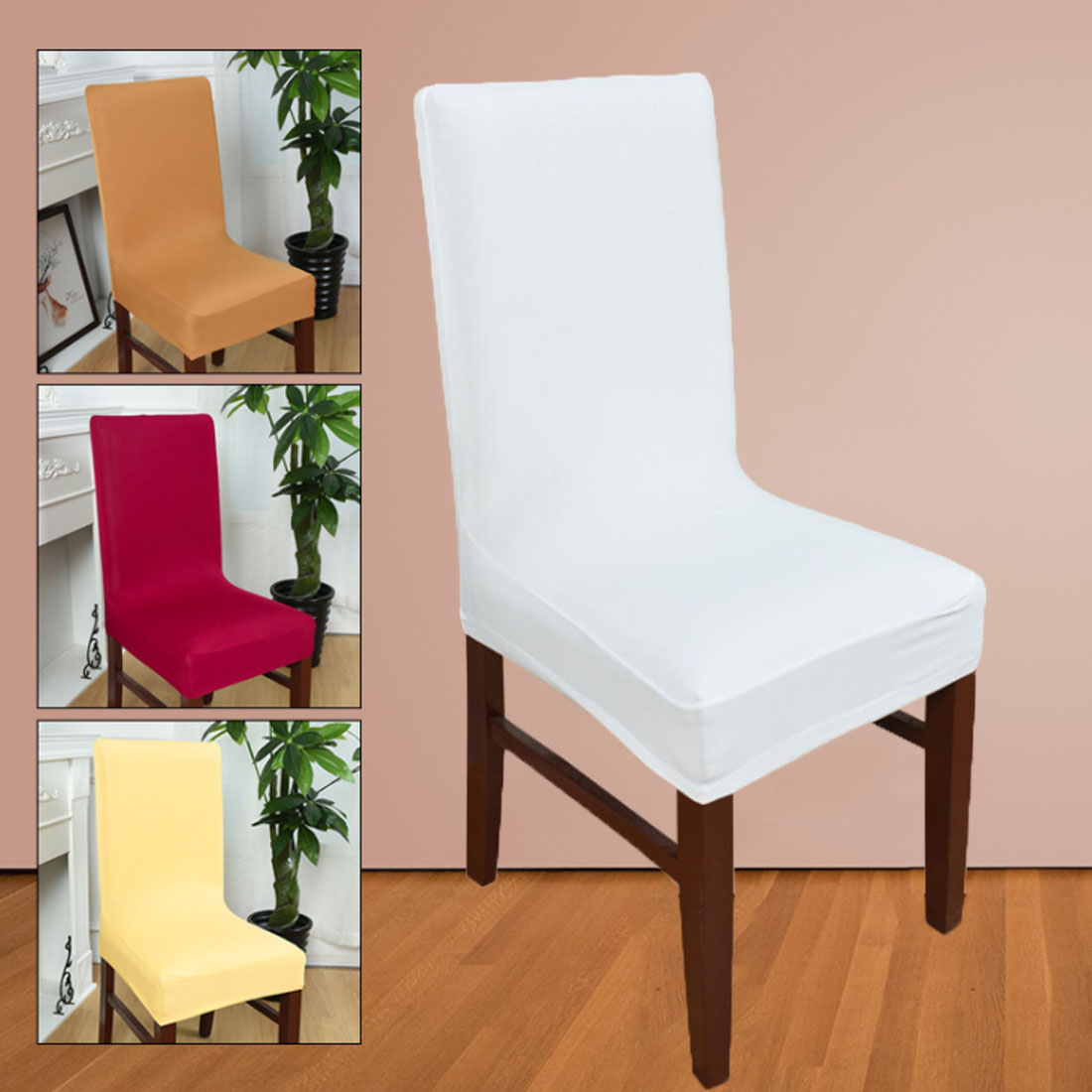 Sillas Comedor Spandex Strech Dining Room Chair Covers Protector Slipcover Decor Cadeiras Seat Covers For Computer Chairs