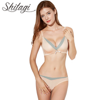 Shitagi Brand 2017 Newest Solid Color Push Up Lingerie Set Women S Underwear Set Sexy 3