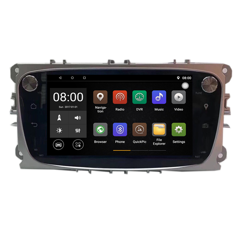 1024*600 Android 8.1 Car DVD GPS For Ford Focus Mondeo C Max S Max 2008 2009 2010 2011 2012 2013 2014 Support DVR DAB 3G WiFi