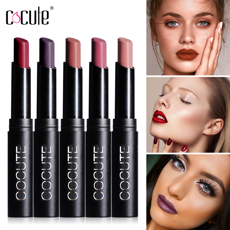 Cocute 15 Colors Lip Stick Moisturizer Lipsticks Waterproof Long-lasting Easy to Wear Cosmetic Nude Makeup Lips qibest 23colors set brand makeup matte proof lipstick long lasting effect soft waterproof matte lipsticks lip easy to wear