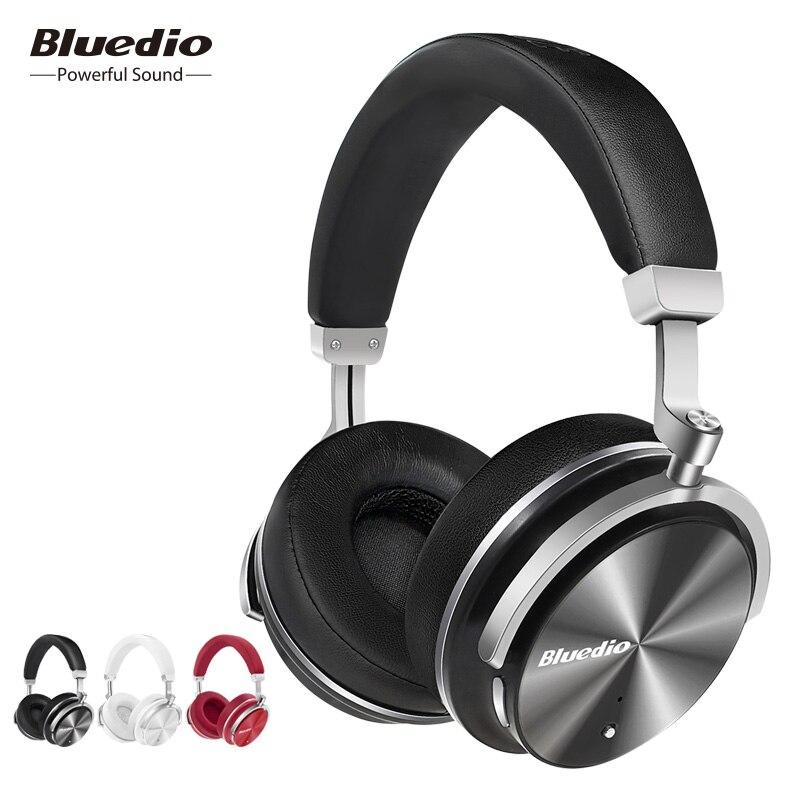Bluedio T4 eliminación activa del ruido-auriculares inalámbricos Bluetooth original giratorio auriculares con micrófono para Xiaomi Samsung