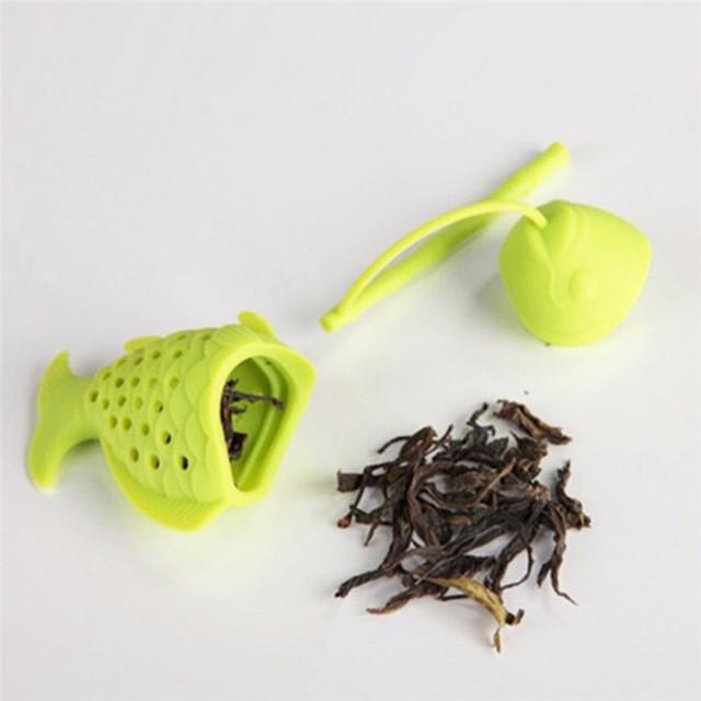 Cute Fish Shape Tea Strainer silicone kitchen gadgets