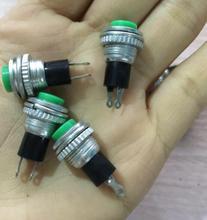10pcs Green No Lock Small 10mm Momentary Push Button Switch(China (Mainland))
