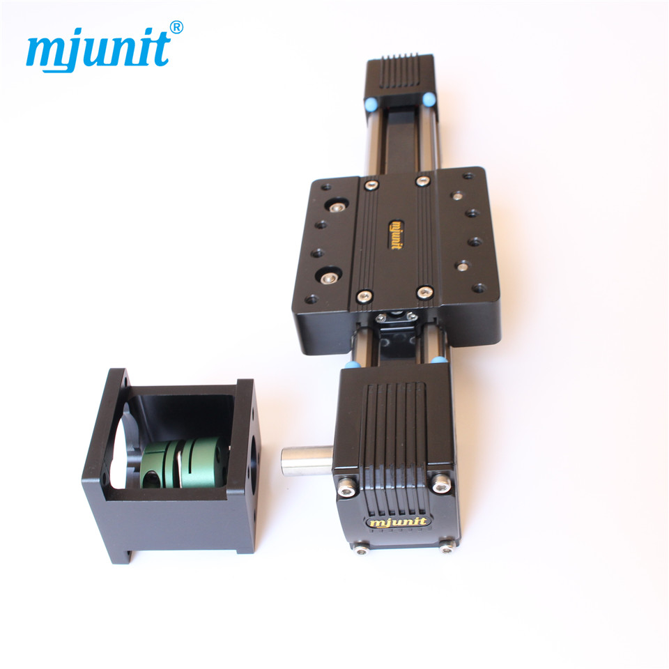 Mjunit 45 High speed belt drive linear guide rail actuator unit with external roller guides high rigidity roller type wheel linear rail smooth motion belt drive guide guideway manufacturer