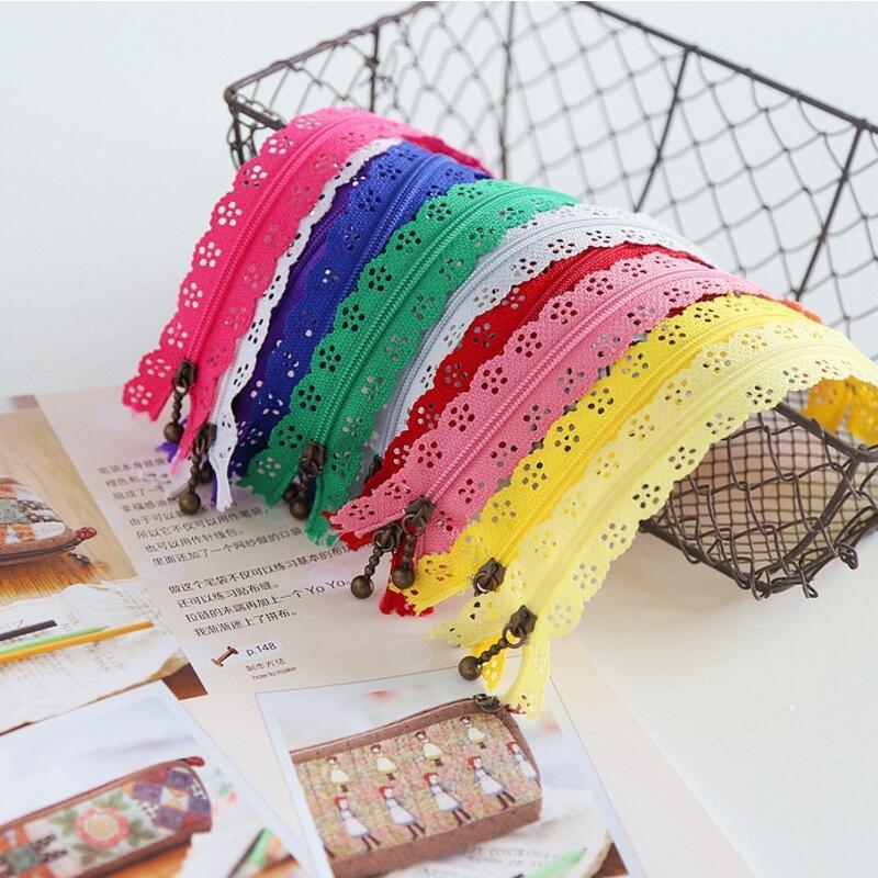 10 pcs 3# 20CM Multicolor lace Nylon Coil Zippers DIY Tailor Sewing Tools Garment Accessories cremalleras costura AU293