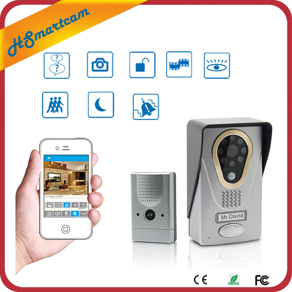 New Hot Wireless IP Doorbell With 720P Camera Video Phone WIFI Door bell Night Vision IR Motion Detection Alarm for IOS Android wireless video call ip camera kit with door magnetic door alarm super high voice quality voip phone