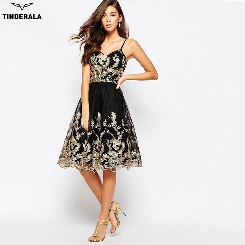 Superior Dinner Party Dress Part - 8: Aliexpress.com : Buy TINDERALA 2017 New Women Party Dress Casual Elegant  Ladies Lace Embroidery Sexy Spaghetti Strap Dress Dinner Party Formal Dress  From ...