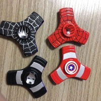 America Captain Shield Iron Man Spiderman Hand Spinner Finger Stress Spinner Tri Spinner EDC Fidget Toy