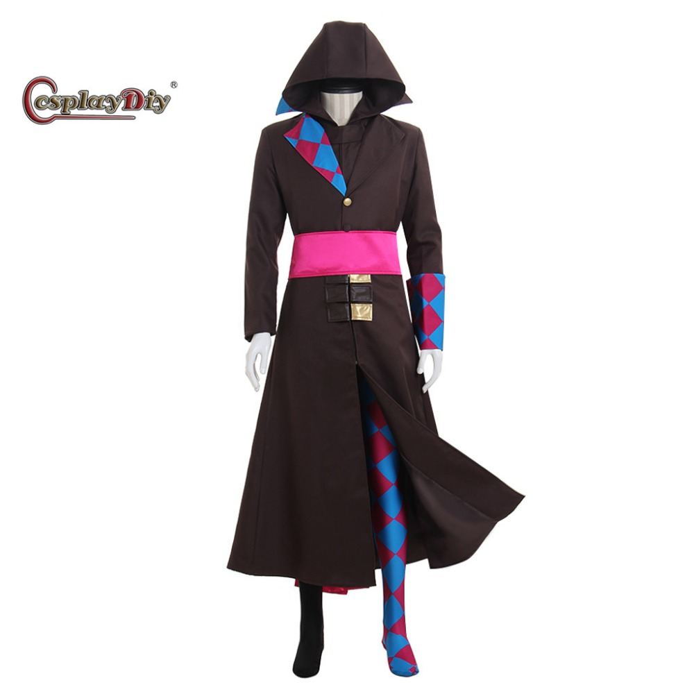 Cosplaydiy Hot Game Comic Role Harley Quinn Villain Cosplay Costume Adult Men Halloween Carnival Outfit Custom Made