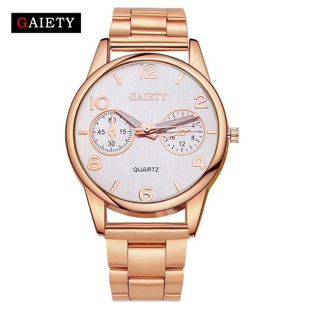 Fashion Golden Silver Quartz Bracelet Watch Women Reloj Mujer Luxury Full Stainl